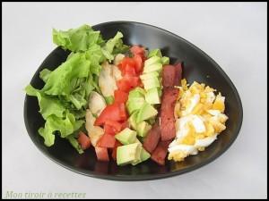 Délicieuse salade Cobb bientôt sur mon blog de cuisine !