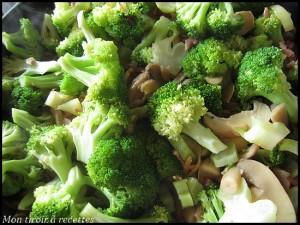 poêlée de brocolis